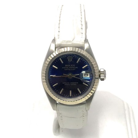 Rolex Datejust 6917 Blue Stick dial and Yellow Gold Fluted Bezel (Certified Pre-Owned)