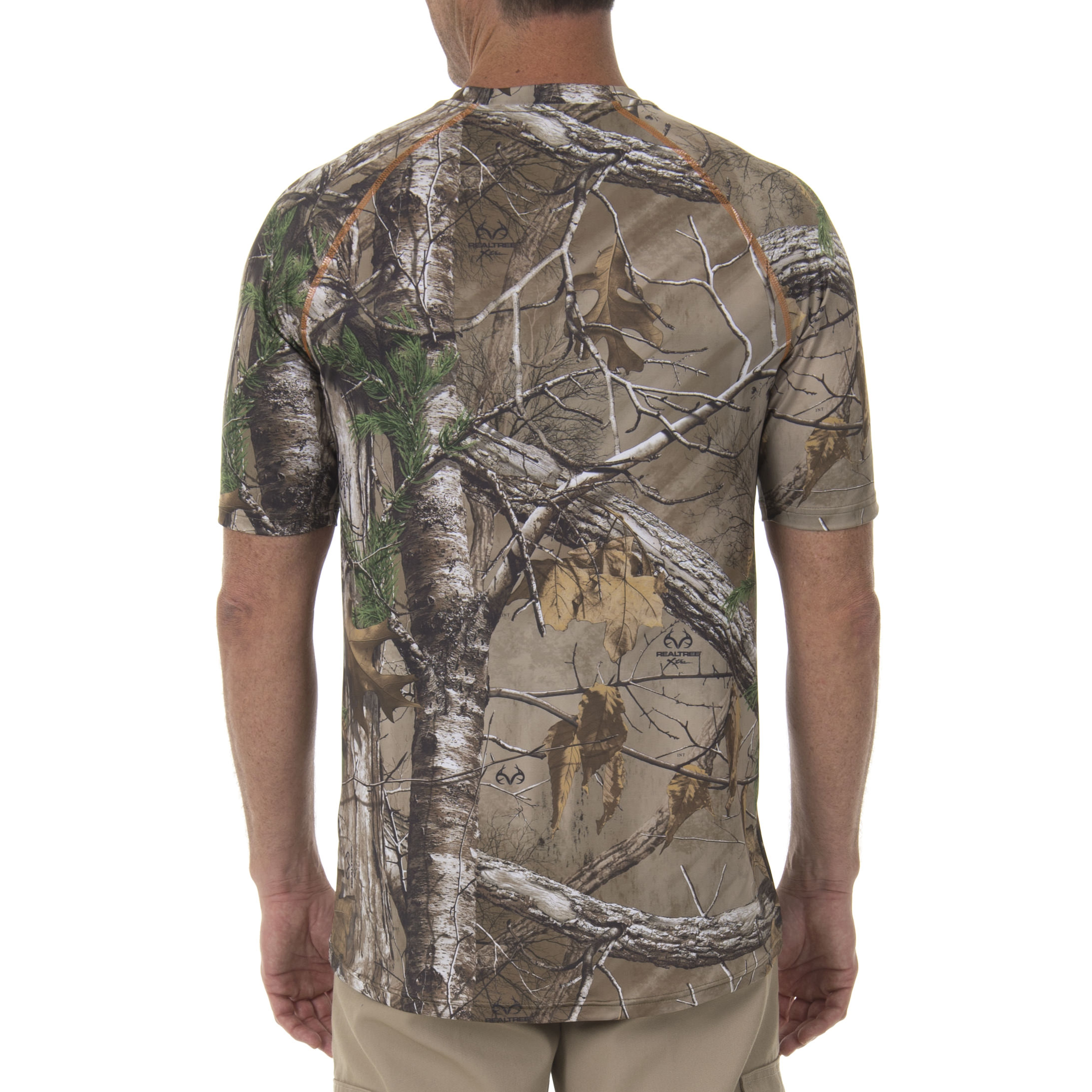 Realtree Mens Camo Green Pocket Tee Active Hunting Outdoors Shooting Lightweight