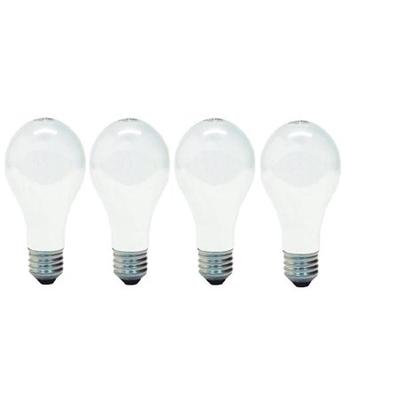 GE 41026 A19 Soft Light Incandescent Bulbs E26 Base 60 Watt (1 Pack Of 4 Bulbs) Total 4 Bulbs