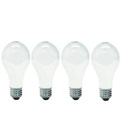 GE 41026 A19 Soft Light Incandescent Bulbs E26 Base 60 Watt (1 Pack Of 4 Bulbs) Total 4 Bulbs 2 Pack Incandescent Light Bulb