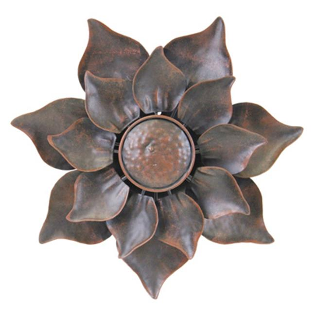 Exhart Environmental Systems 91100 Bronze, Metal Dual Petal Kinetic Flower - Pack Of 3 - image 1 of 1