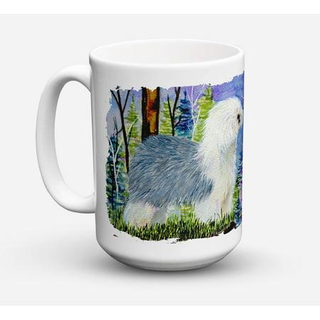 Old English Sheepdog Dishwasher Safe Microwavable Ceramic Coffee Mug 15 ounce SS8641CM15