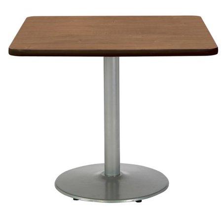 KFI Studios Mode 3.5' Square Bistro Table, Designer White, Black Base