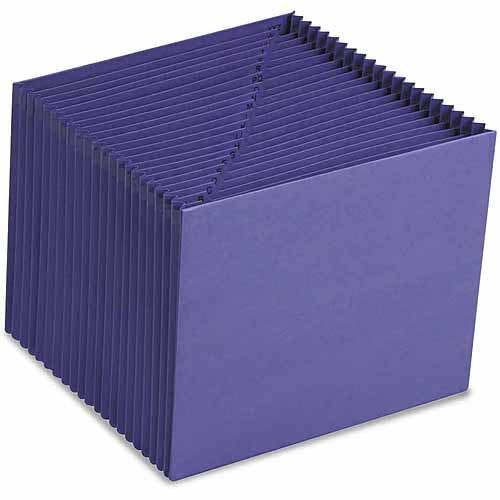 Smead Heavy-Duty A-Z Open Top Accordion Expanding Files, 21 Pockets, Letter, Purple