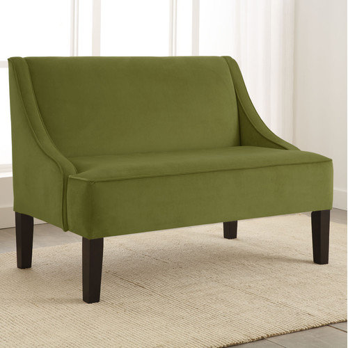 Skyline Furniture Swoop Velvet Settee Loveseat