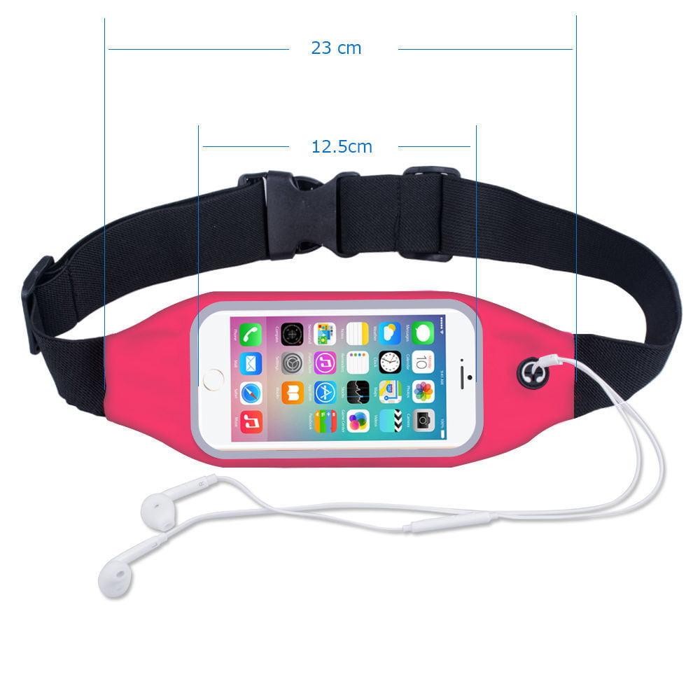 Apple iPhone 8 / iPhone 8 Plus /iPhone X / iPhone 7 / iPhone 7 Plus / iPhone 6 6s 6 Plus 6s Plus Waterproof Case Pouch Sports Jog Running Belt Waist Pack Bag - Black