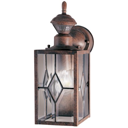 "Image of ""Heath Zenith HZ-4151-1 Rustic Brown 1 Light 8-9/32"""" High Outdoor Wall Sconce"""