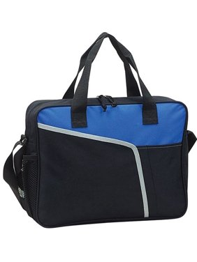 "Soft Side Padded 15"" Laptop Computer Brief Case - BLUE, Made of 600D polyester"