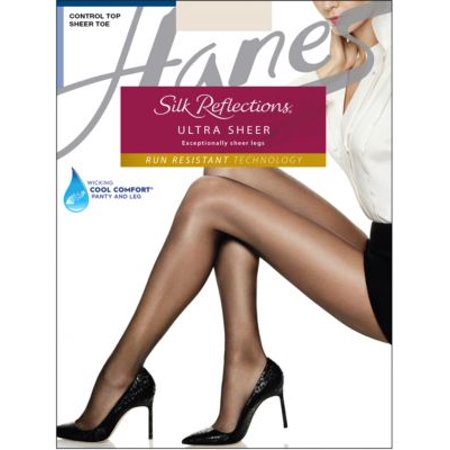 345fdda7444 Silk Reflections Ultra Sheer Control Top Pantyhose with Run Resistant -  Walmart.com