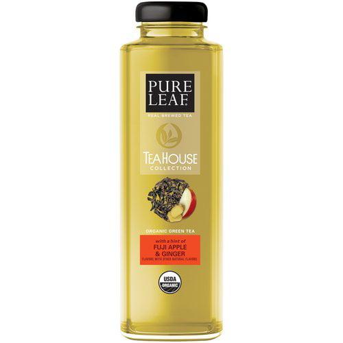Pure Leaf Tea House Organic Green Tea Fuji Apple & Ginger Iced Tea 14 fl. oz. Glass Bottle