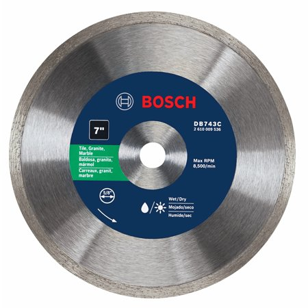 Premium Plus Diamond Blade - BOSCH Diamond Saw Blade,Wet/Dry Cutting Type DB743C