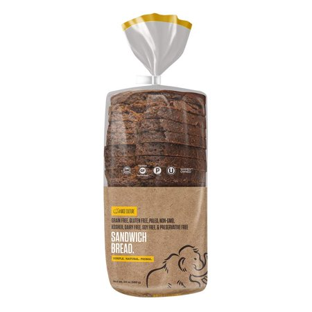 Paleo Bread, Large Size | Delicious 100% Paleo, Gluten, Grain, Dairy, and Soy Free- Perfect for Sandwiches (5g Protein Per Loaf, 18 Slices Per Loaf, 1 Count) Base Culture - 24 Ounce (Pack of