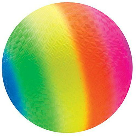 Rainbow Ball 9 inch - Outdoor Fun Toy by Schylling (RBL) - Rainbow Beach Ball