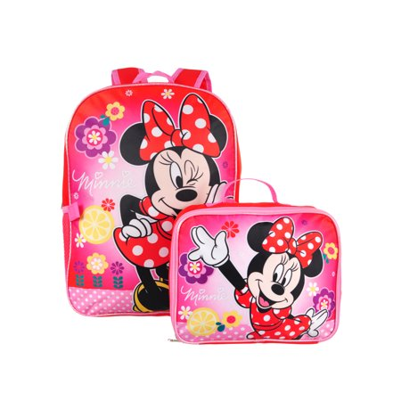 6183c322a1 Disney - Disney Minnie Mouse Backpack with Insulated Lunchbox - Walmart.com