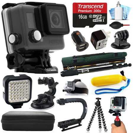 gopro hero camera camcorder chdhc 101 with 16gb card car home charger selfie stick. Black Bedroom Furniture Sets. Home Design Ideas