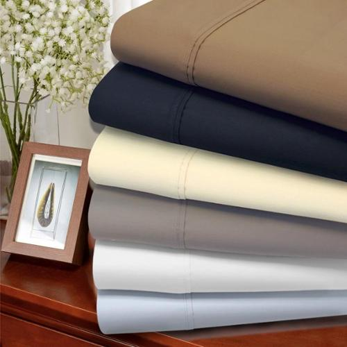 1200 Thread Count Cotton Blend Sheet Set King Pillowcase (set of 2) - Taupe