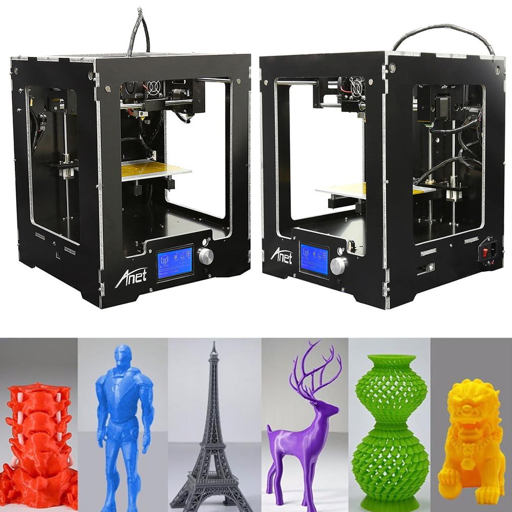 Anet A3 3D Printer Full Assembled Desktop Aluminum Extruder Mainboard Component,Black