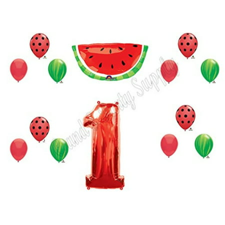 WATERMELON First 1st Birthday Party Balloons Decoration Supplies Tutti Fruiti](1st Birthday Girl Party Supplies)
