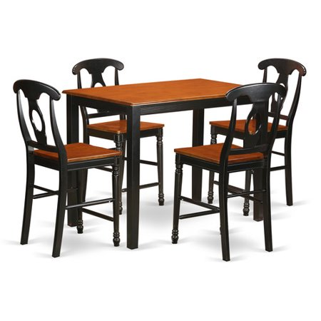 pc counter height table and chair set high top table and 4 bar