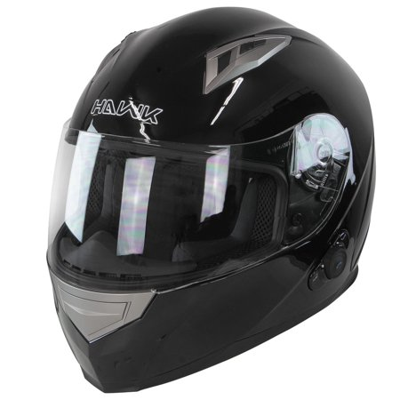 Hawk H 510 Glossy Black Bluetooth Full Face Helmet