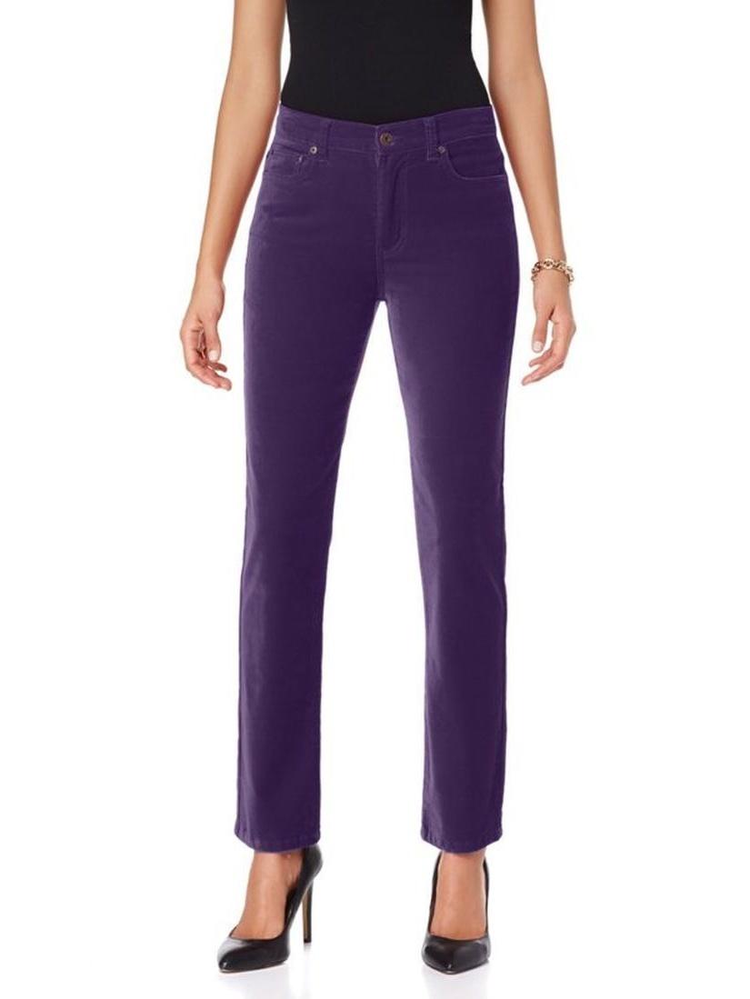 DG2 Diane Gilman Stretch Velvet Skinny Jean 377-011