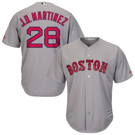 J.D. Martinez Boston Red Sox Majestic Road Official Cool Base Player Jersey - (Martinez Signed Jersey)