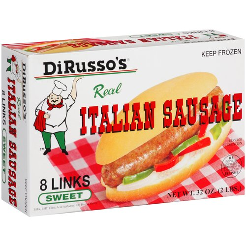 DiRusso's Sweet Italian Sausage Links, 4 oz, 8 count