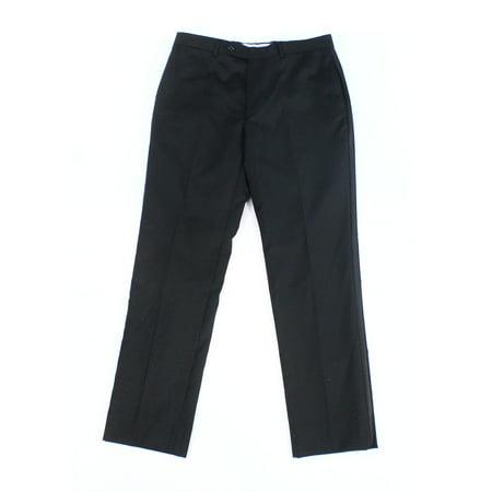 Tommy Hilfiger Black Mens 34x32 Dress - Flat Front Wool Pants $175