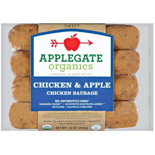Applegate Farms Chicken & Apple Chicken Sausage, 4 count