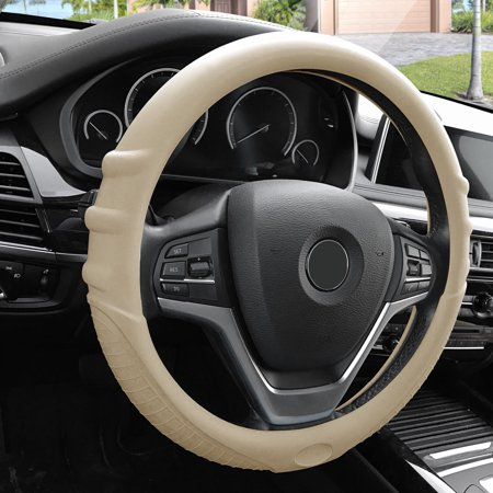 Auto Steering Wheel Cover - FH Group Silicone Steering Wheel Cover for Auto Car SUV Universal Fitment, 14 Colors