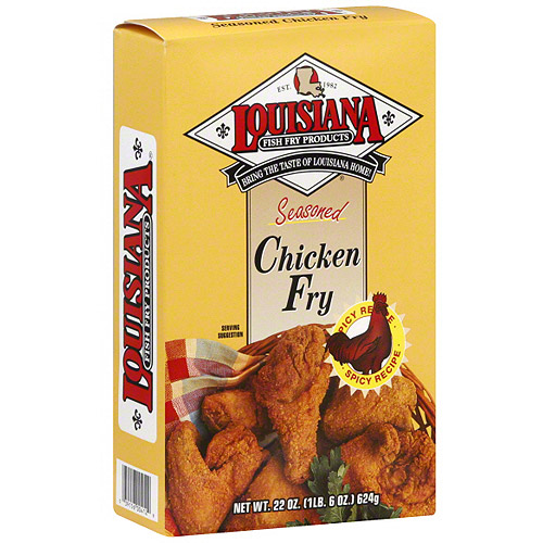 Louisiana Fish Fry Products Seasoned Chicken Fry, 22 oz (Pack of 12)