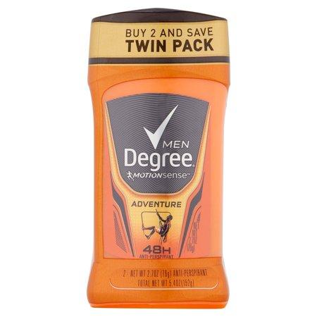 Degree Men Motionsense Adventure 48H Anti Perspirant Twin Pack  2 7 Oz  2 Pack
