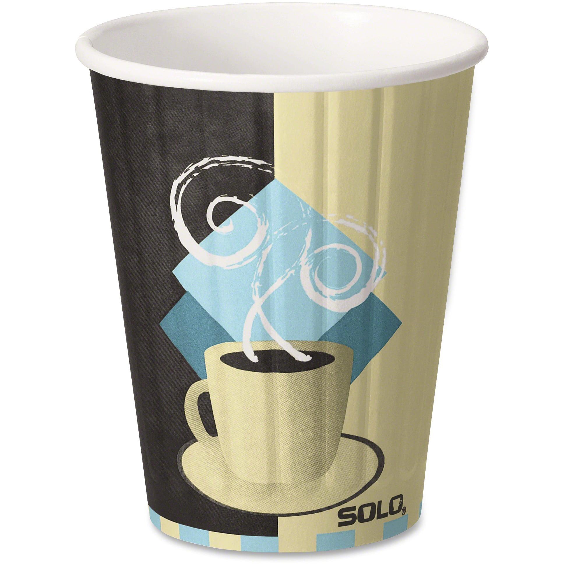 Solo, SCCIC12J7534, Insulated Paper Hot Cups, 600 / Carton, Beige, 12 fl oz