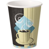 Solo, SCCIC12J7534, Insulated Paper Hot Cups, 600 / Carton, Beige