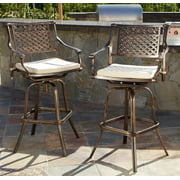 Bar Stool with Cushions - Set of 2