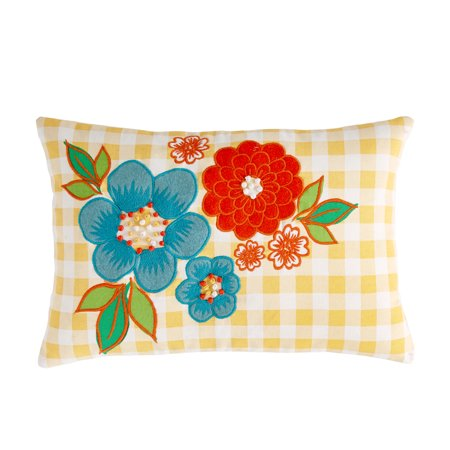 The Pioneer Woman Gingham Decorative Throw Pillow, 12