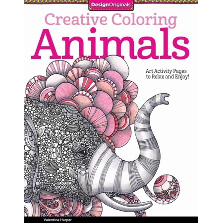 CREATIVE COLORING ANIMALS : ART ACTIVITY PAGES TO
