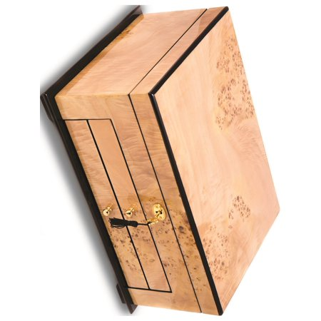 Birdseye Maple Jewelry Box - Birdseye Maple Lacquered Wood 3 Level Jewelry Box Designer Jewelry by Sweet Pea