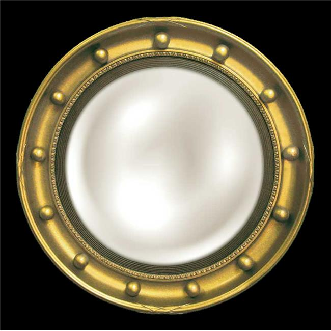 HMH 6317E AG Regency Eagle Convex Mirror Antique Gold Old World Finish