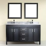 Bauhaus Bath Coraline 60'' Double Bathroom Vanity Set with Mirror