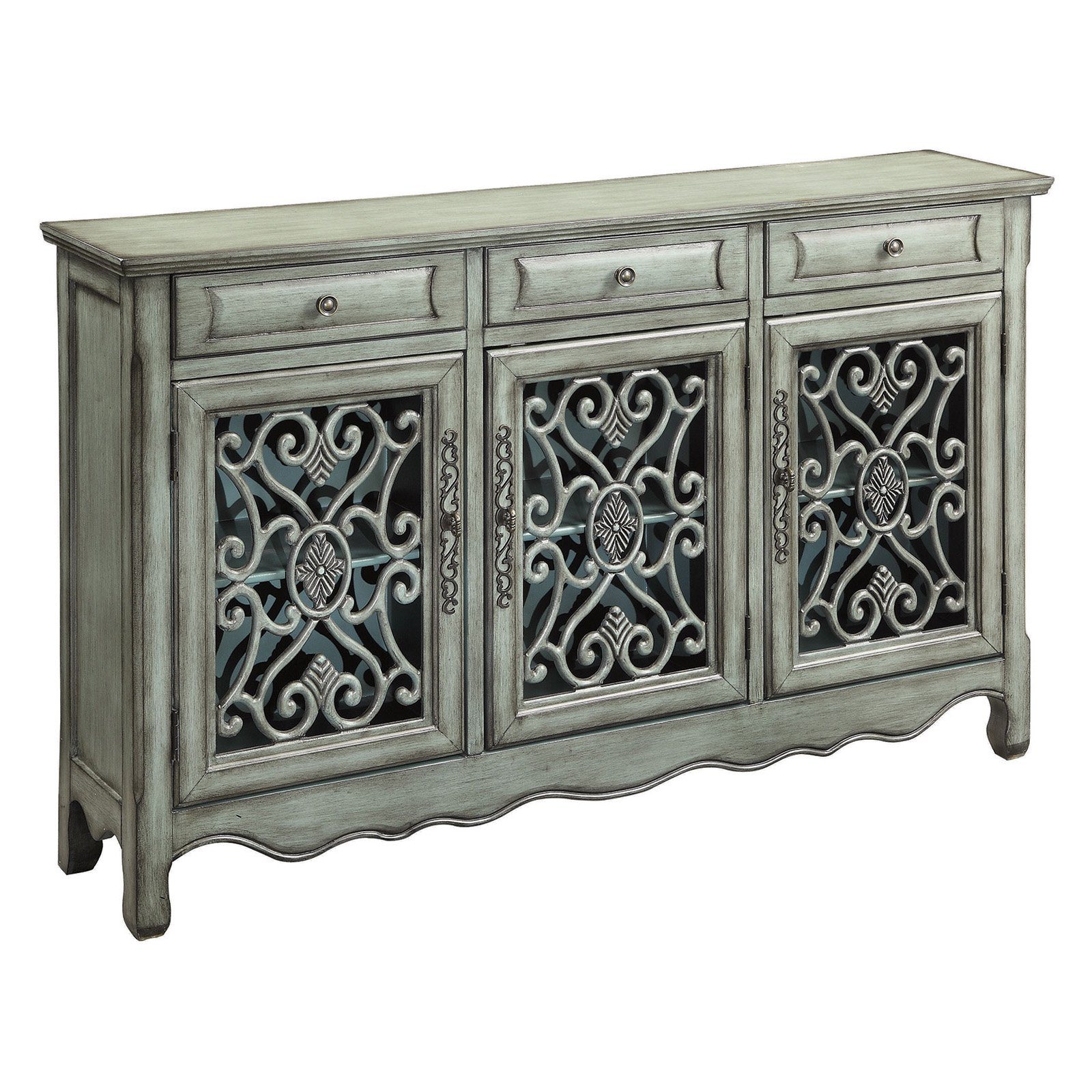 Coaster Company Accent Cabinet, Antique Green