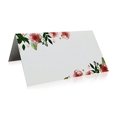 Jot & Mark Place Cards Floral 50 Count (Pink Peonies)](Wedding Placecards)