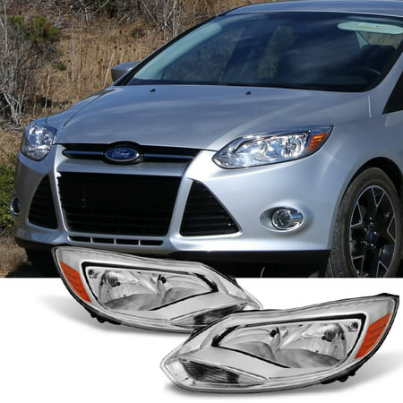 Ford Fusion Headlight Assembly (Fit 2012-2014 Ford Focus Headlights HeadLamp Assembly Light+Right Light 12 13)