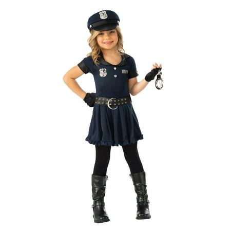 Girls Cop Cutie Halloween Costume - Halloween Girl Faces
