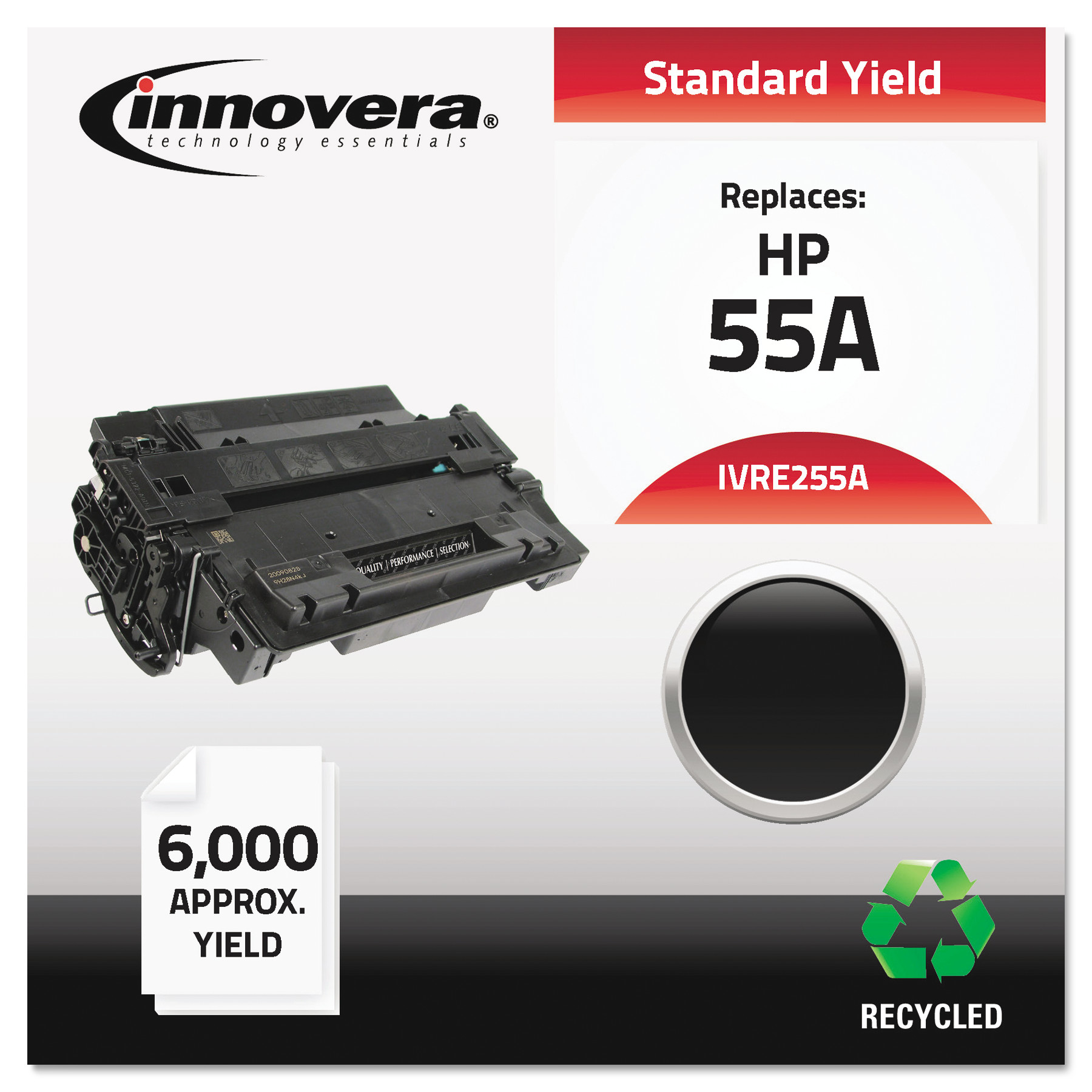 Innovera Remanufactured CE255A (55A) Toner, Black