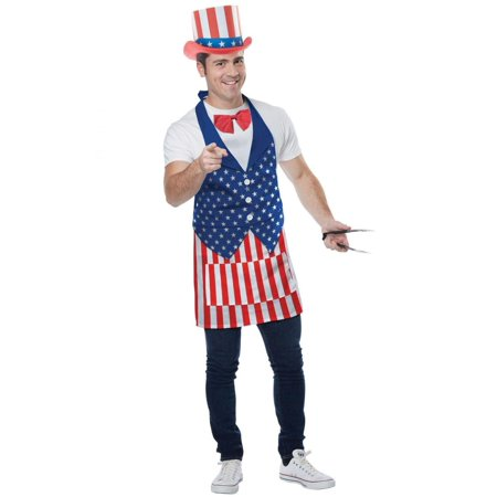 4th of July Apron Adult Costume Set, One Size