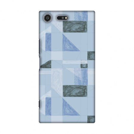 (Sony Xperia XZ Premium Case - Sooty pastels- Crystal blue, Hard Plastic Back Cover, Slim Profile Cute Printed Designer Snap on Case with Screen Cleaning Kit)