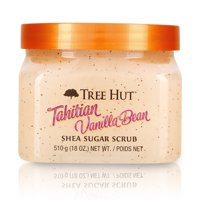 Tree Hut Tahitian Vanilla Bean Shea Sugar Scrub, 18oz, Ultra Hydrating and Exfoliating Scrub for Nourishing Essential Body Care