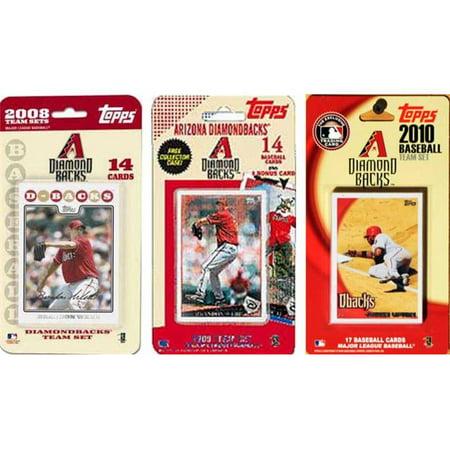C & I Collectibles DBACKS3TS MLB Arizona Diamondbacks 3 diff-rentes -quipes Trading Card licence Fixe - image 1 de 1