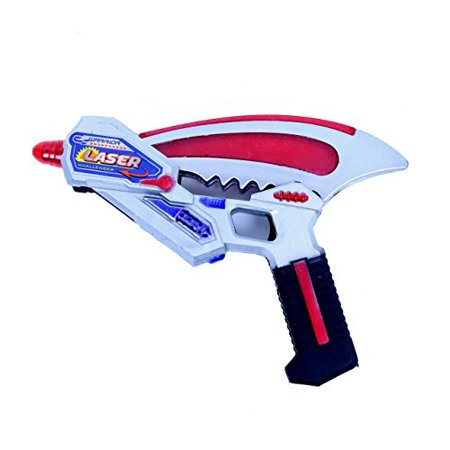 Dazzling Toys Christmas Shooter Gun Super Spinning Laser Space Shooter with LED Light & Sound